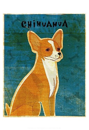 Framed Chihuahua (red) Print