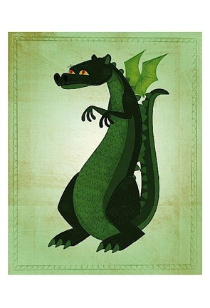 Framed Green Dragon Print