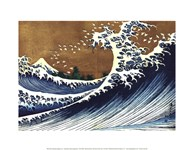Big Wave (from 100 views of Mt. Fuji) Art