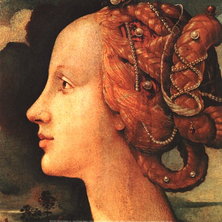 Framed Portrait of Simonetta Vespucci (detail) Print