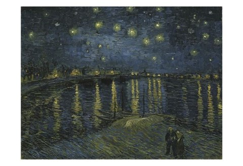 Starry Night Over The Rhone Fine Art Print By Vincent Van
