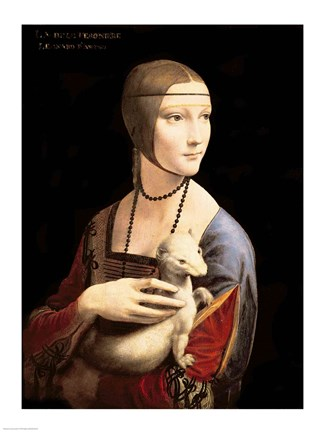 The Lady With The Ermine Fine Art Print By Leonardo Da