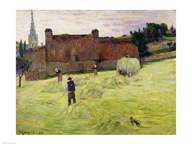 Haymaking in Brittany, 1888 Art