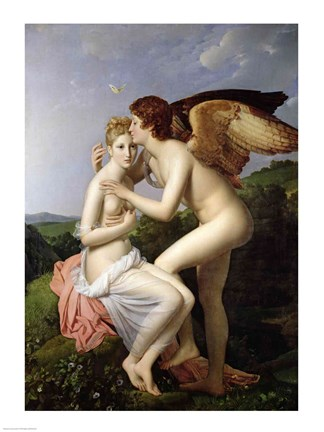 Framed Psyche Receiving the First Kiss of Cupid, 1798 Print