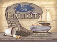 Blue Crab Boat Tours  Fine Art Print
