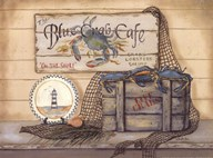 Blue Crab Caf?  Fine Art Print
