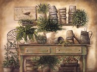 Potting Bench I  Fine Art Print