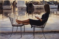 Reading on the Dock Art