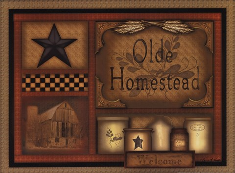 Framed Olde Homestead Print
