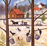 Maple Sugar House Art