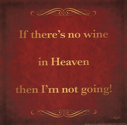 Framed Wine in Heaven Print