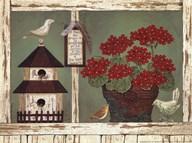 Red Geraniums Art