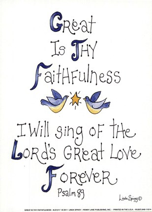 Framed Great is Thy Faithfulness Print
