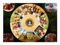 Tabletop of the Seven Deadly Sins and the Four Last Things - detail  Fine Art Print