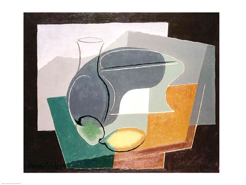 Framed Fruit-dish and carafe, 1927 Print