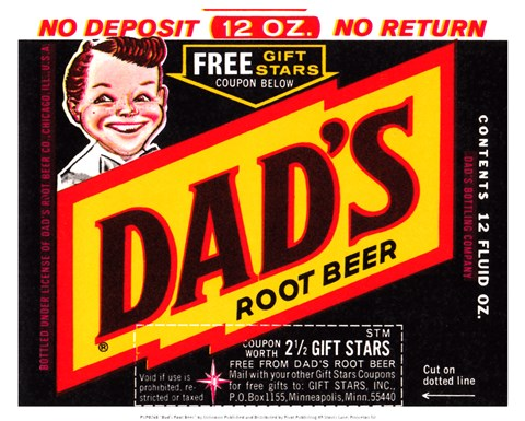 Framed Dad's Root Beer Print