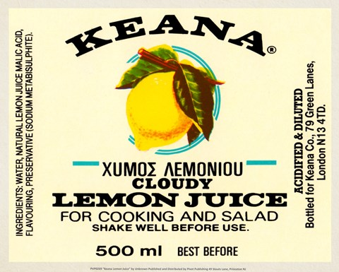 Framed Keana Lemon Juice Print
