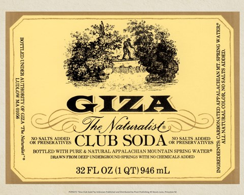 Framed Giza Club Soda Print
