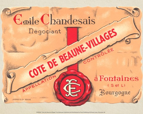 Framed Cote de Beaune-Villages Print