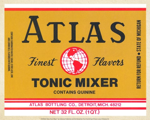Framed Atlas Tonic Mixer Print