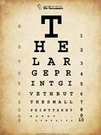 Tom Waits Eye Chart  Fine Art Print