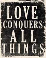 Love Conquers All - Voltaire Quote Art