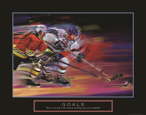 Framed Goals - Hockey Print
