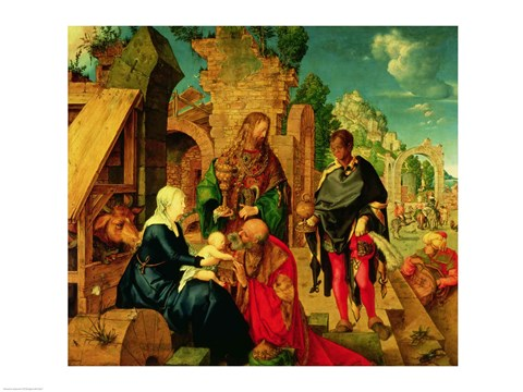 Framed Adoration of the Magi, 1504 Print