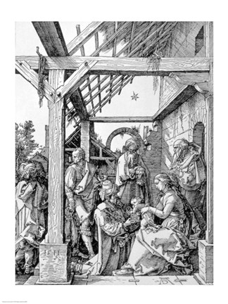 Framed Adoration of the Magi, 1511 Print