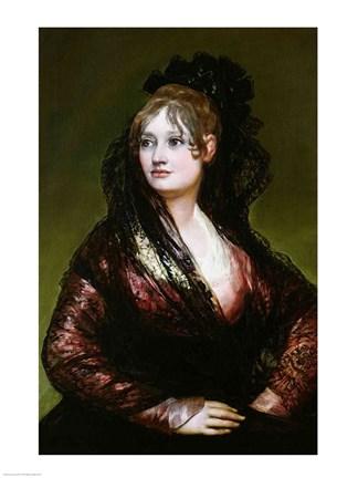 Dona Isabel De Porcel Fine Art Print By Francisco De Goya