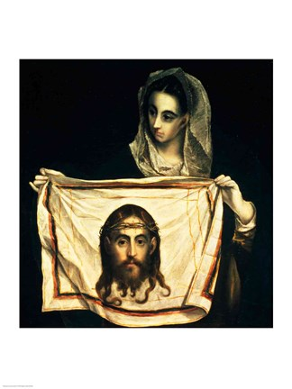 Framed St.Veronica with the Holy Shroud Print