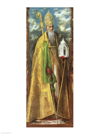 Saint Augustine Of Hippo Fine Art Print By El Greco At