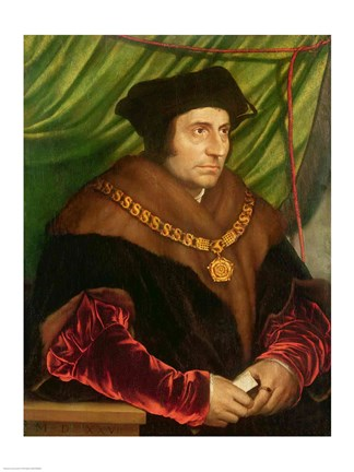 Framed Portrait of Sir Thomas More Print