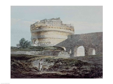 Framed Castle of San Angelo, Rome Print