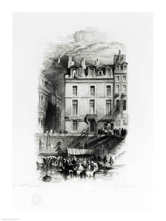 Framed Napoleon's Lodgings on the Quai Conti Print