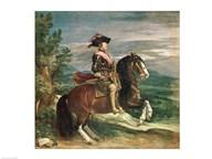 Equestrian Portrait of Philip IV  Fine Art Print