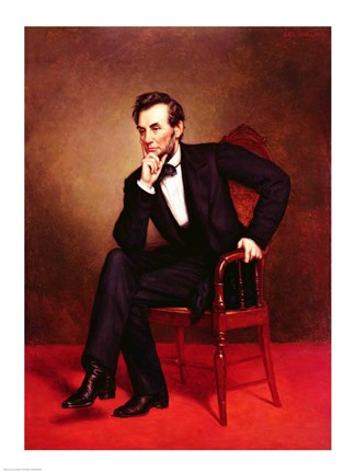 Framed Portrait of Abraham Lincoln Print