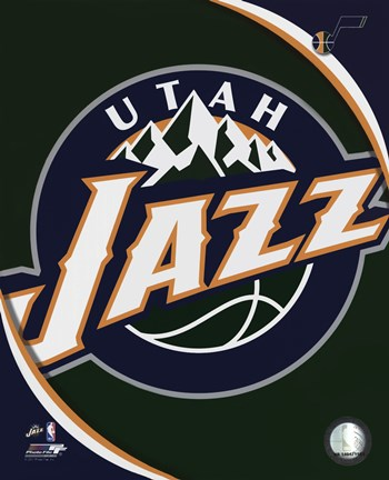 Framed Utah Jazz Team Logo Print