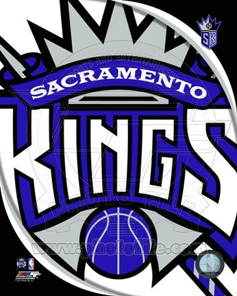 Framed Sacramento Kings Team Logo Print