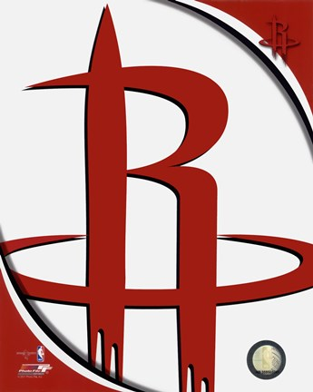Framed Houston Rockets Team Logo Print