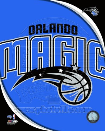 Framed Orlando Magic Team Logo Print
