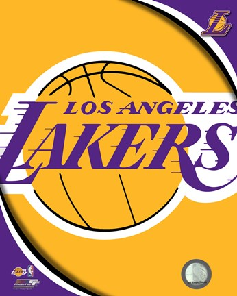 Framed Los Angeles Lakers Team Logos Print