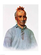 Kish-Kal-Wa, a Shawnee Chief Art
