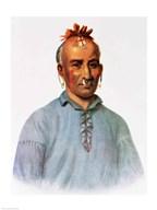 Kish-Kal-Wa, a Shawnee Chief  Fine Art Print