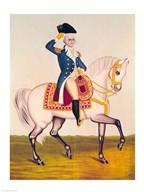 General Washington on a White Charger  Fine Art Print