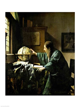Framed Astronomer, 1668 Print