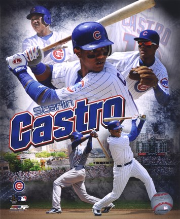 Framed Starlin Castro 2011 Portrait Plus Print