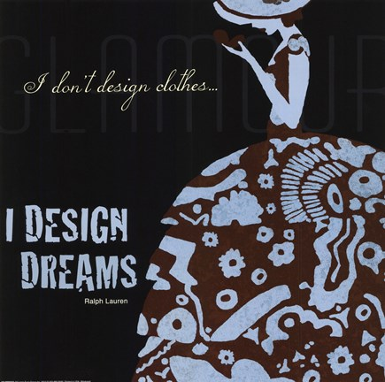 Framed Designers Dreams Print