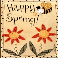 Spring Bumble Bee Art