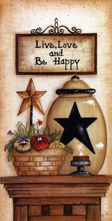 Framed Be Happy Print